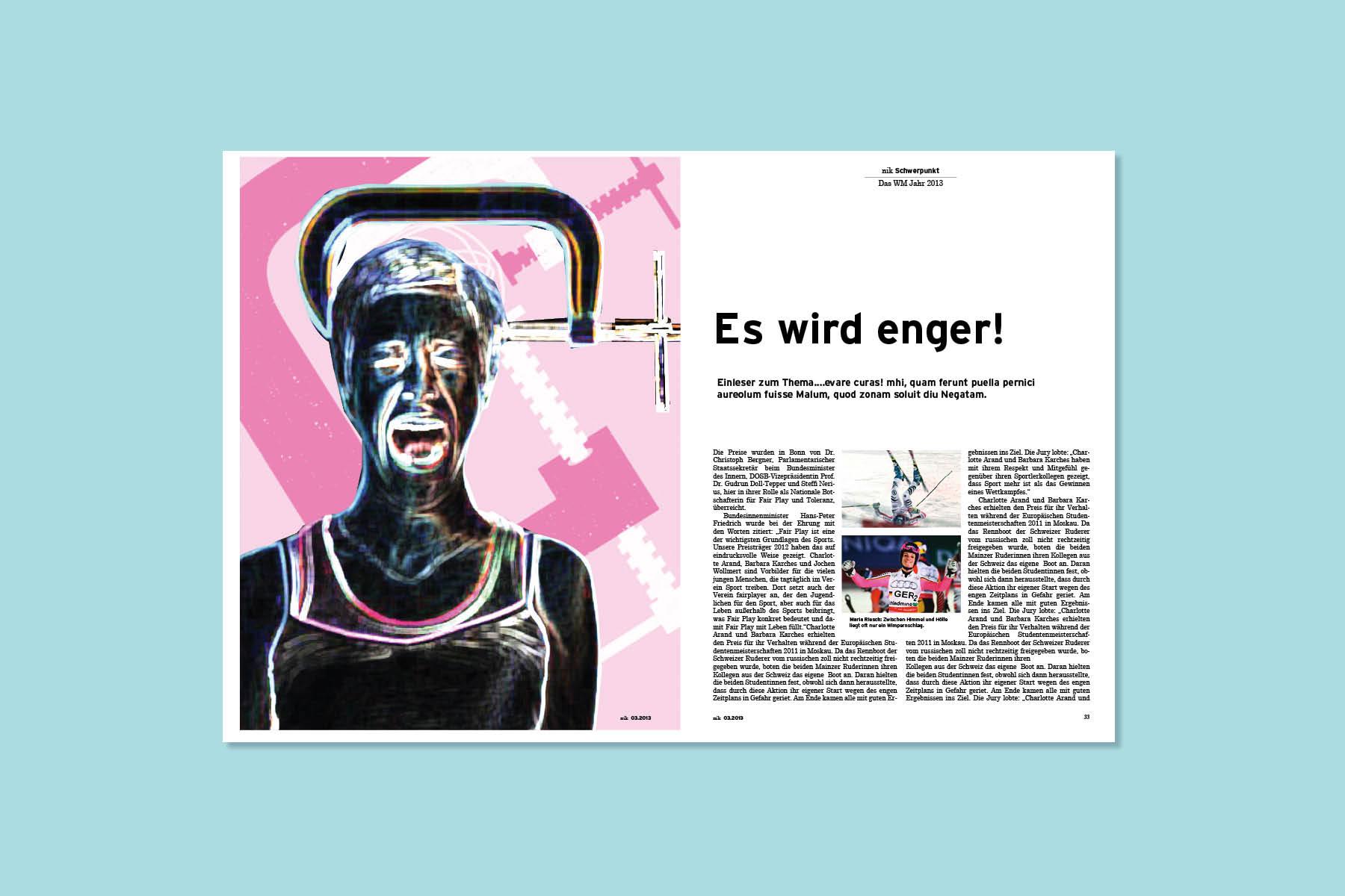 Magazin-Layout-Artikel-Stress-Doppelseite