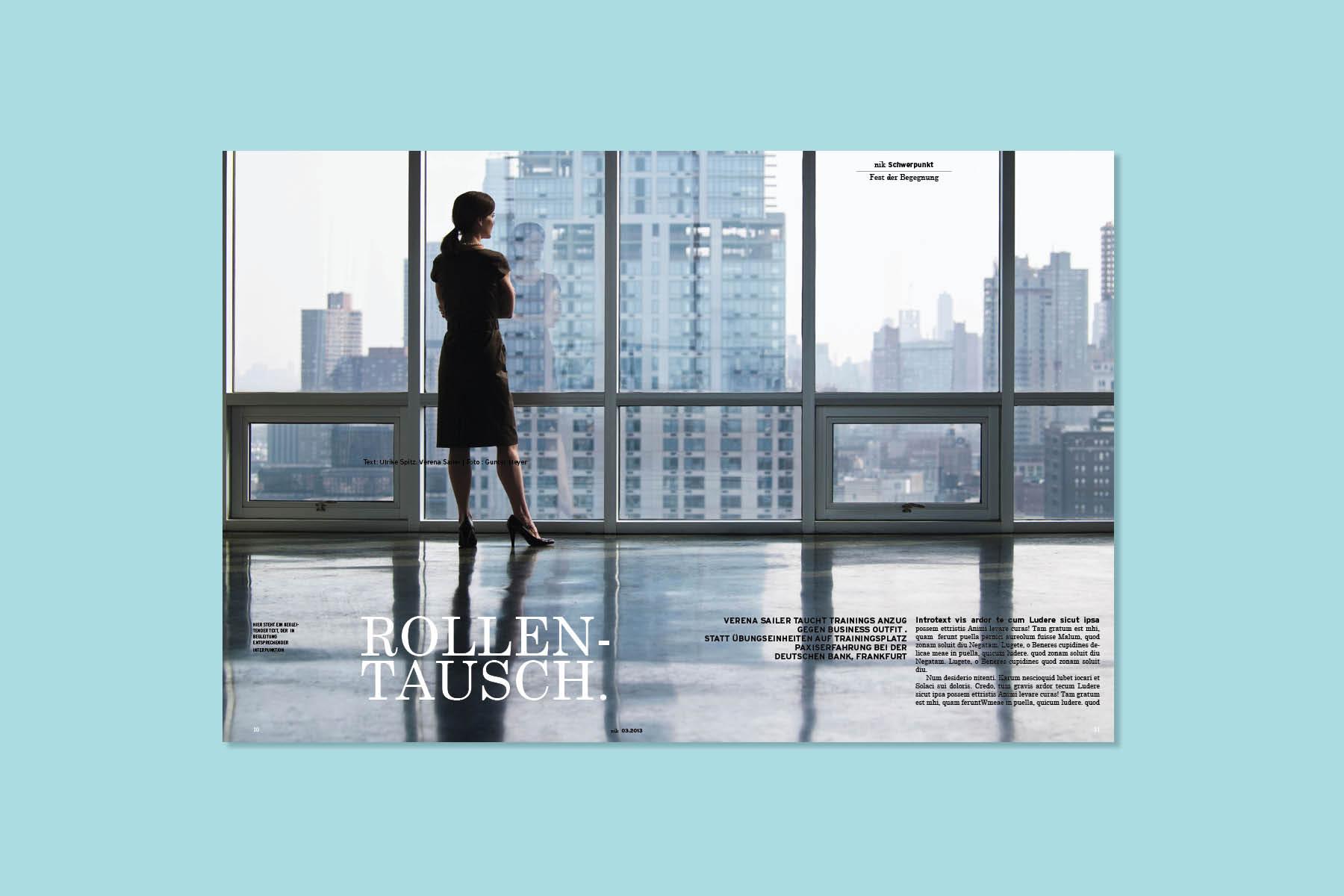 Magazin-Layout Deutsche Sporthilfe